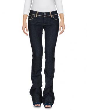 Джинсовые брюки PF PAOLA FRANI. Цвет: синий