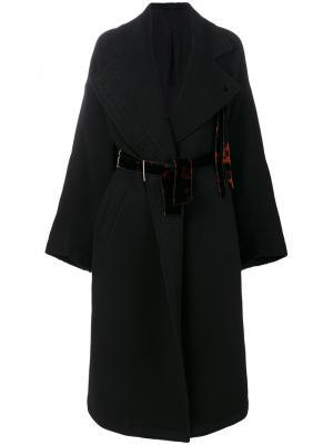 Пальто с поясом Damir Doma. Цвет: чёрный