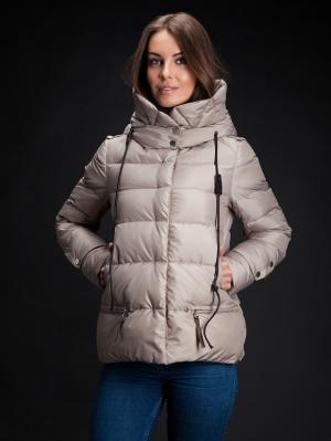 Зимняя куртка Clasna. Цвет: бежевый