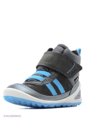 Ботинки ECCO. Цвет: серебристый, серый