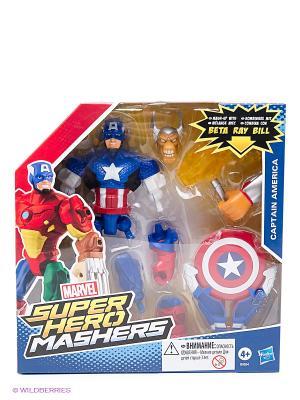 Разборные фигурки Марвел с оружием Hasbro. Цвет: красный, синий