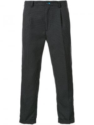 Укороченные брюки в горох Guild Prime. Цвет: чёрный