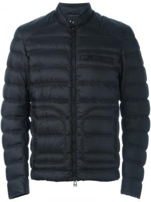 Стеганая куртка с логотипом Belstaff. Цвет: чёрный