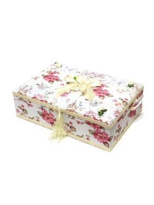 Шкатулка для украшений Eleon. Цвет: белый, бежевый, розовый