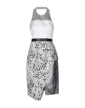 Платье длиной 3/4 JOSH GOOT. Цвет: белый