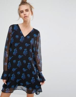Essentiel Antwerp Платье с длинными рукавами Marci. Цвет: мульти