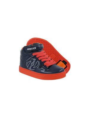 Роликовые кроссовки Heelys Fly. Цвет: темно-синий, оранжевый