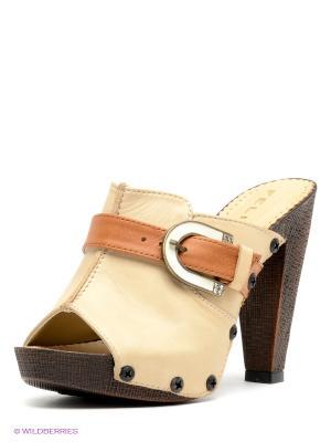Сабо Felina shoes. Цвет: светло-бежевый