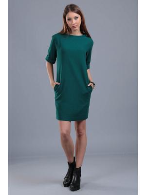 Платье ЭНСО. Цвет: зеленый