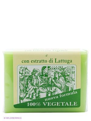 Натуральное глицериновое мыло с  экстрактом латука, 150 гр Iteritalia. Цвет: зеленый