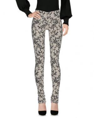 Повседневные брюки NOSTRASANTISSIMA. Цвет: слоновая кость