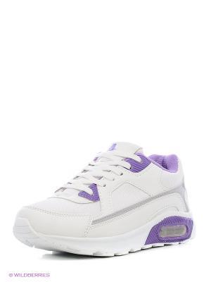 Кроссовки Ascot. Цвет: серебристый, фиолетовый, белый