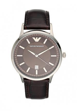 Часы Emporio Armani. Цвет: коричневый