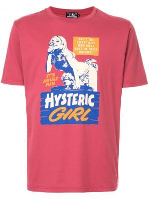Футболка с заплаткой логотипом Hysteric Glamour. Цвет: розовый и фиолетовый
