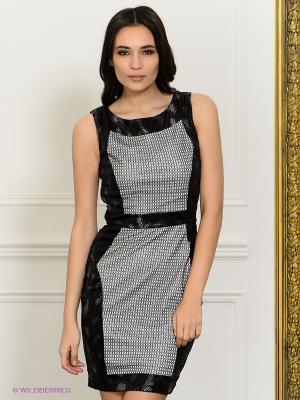 Платье NikiBiki. Цвет: черный, серебристый