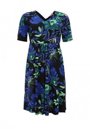 Платье Ulla Popken. Цвет: черный