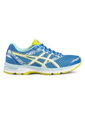 Спортивная обувь GEL-EXCITE 4 ASICS. Цвет: голубой, белый, желтый