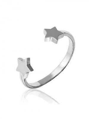 Молодежное кольцо Звезды KU&KU. Цвет: серебристый