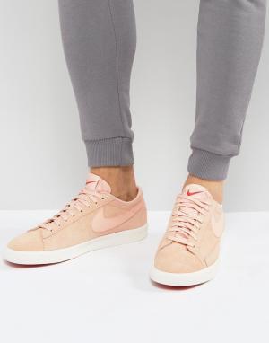 Nike Розовые низкие кроссовки Blazer 371760-801. Цвет: розовый