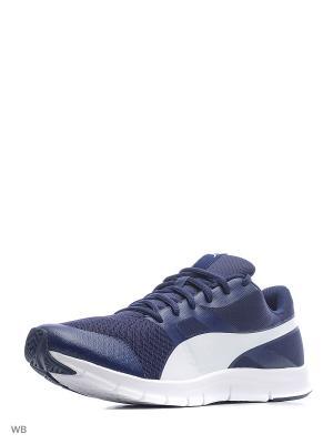 Кроссовки Flexracer Puma. Цвет: темно-синий, белый