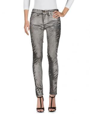 Джинсовые брюки WILDFOX. Цвет: серебристый
