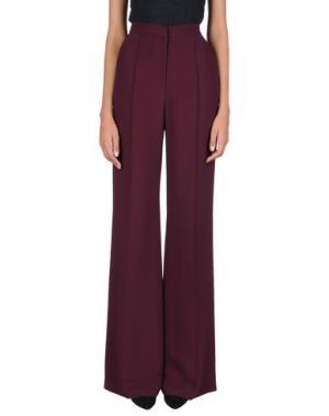 Повседневные брюки ELIE SAAB. Цвет: красно-коричневый