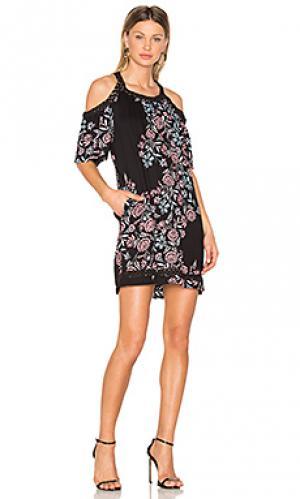 Платье в цветочек wanderer Ella Moss. Цвет: черный