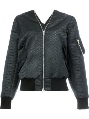 Куртка-бомбер на молнии Yang Li. Цвет: чёрный