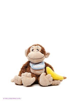 Мягкая игрушка Мартышка Мия Fluffy Family. Цвет: коричневый
