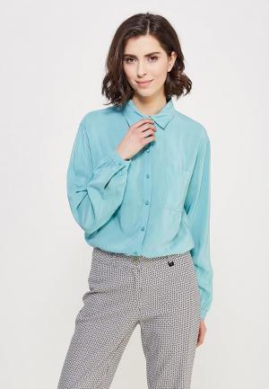 Блуза Devur. Цвет: голубой