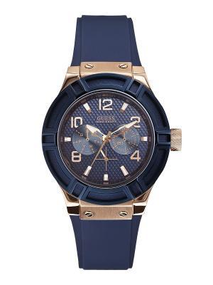 Часы GUESS. Цвет: синий, золотистый, розовый