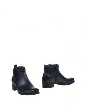 Полусапоги и высокие ботинки TREMP. Цвет: темно-синий