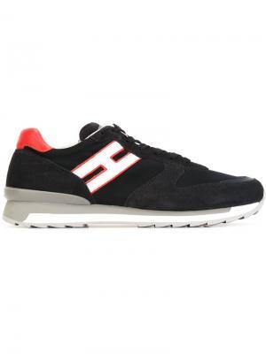 Кроссовки на шнуровки Hogan. Цвет: синий