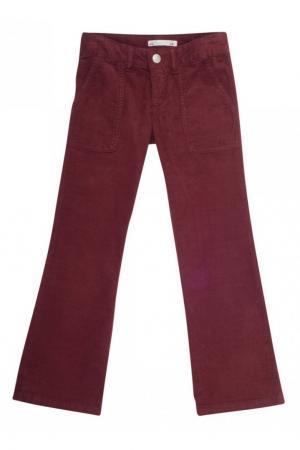 Бордовые брюки-клеш File Bonpoint. Цвет: none
