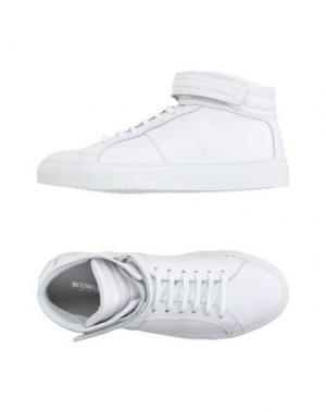 Высокие кеды и кроссовки NATIONAL STANDARD. Цвет: белый