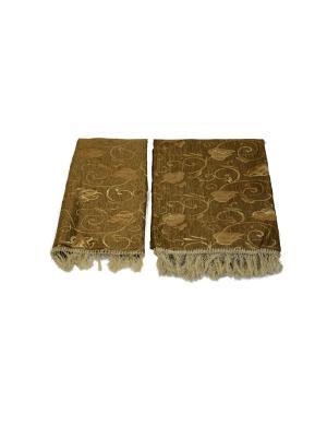 Комплект дивандек, золотой 150*200 (70*150-2 шт.) +/- 2% МарТекс. Цвет: коричневый