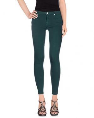 Джинсовые брюки (+) PEOPLE. Цвет: темно-зеленый