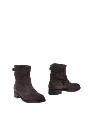 Полусапоги и высокие ботинки TREMP. Цвет: темно-коричневый