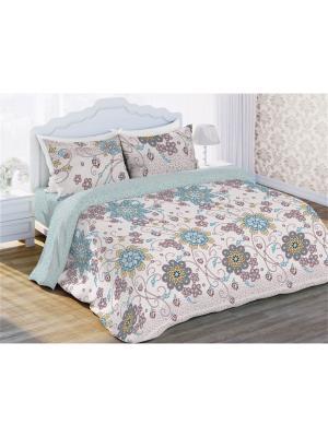 Комплект постельно белья 1,5  бязь Гласси Любимый Дом. Цвет: серо-голубой, бежевый