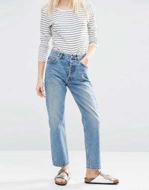 ASOS Прямые джинсы. Цвет: синий