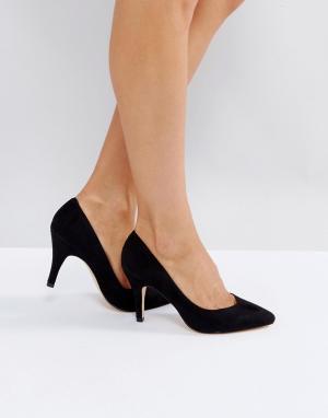 London Rebel Туфли на высоком каблуке с острым носом. Цвет: черный