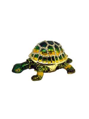Шкатулка Черепаха Yen Ten. Цвет: зеленый, золотистый