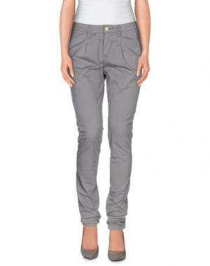 Повседневные брюки OSSO GOCCIA. Цвет: серый