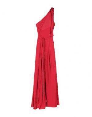 Длинное платье DSQUARED2. Цвет: красно-коричневый
