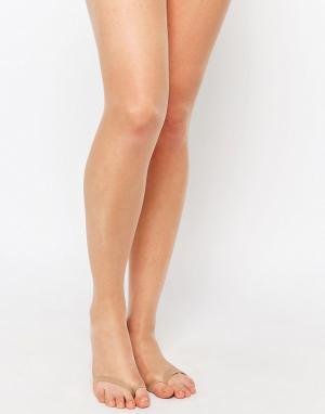 ASOS Бежевые колготки плотностью 8 ден с открытым носком под босоножки. Цвет: бежевый