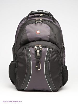 Рюкзак WENGER. Цвет: черный, серый