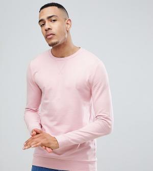 ASOS Розовый обтягивающий свитшот TALL. Цвет: розовый