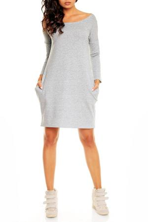Платье NOMMO. Цвет: серый
