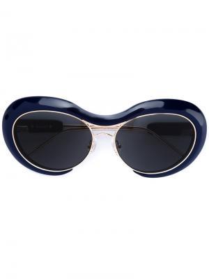 Солнцезащитные очки  x Linda Farrow Sacai. Цвет: синий