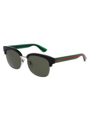 Солнцезащитные очки GUCCI. Цвет: черный, зеленый